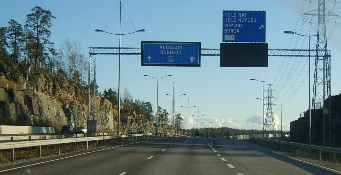 Дорога в Порт Vuosaari Nordsjo Keha Ring III
