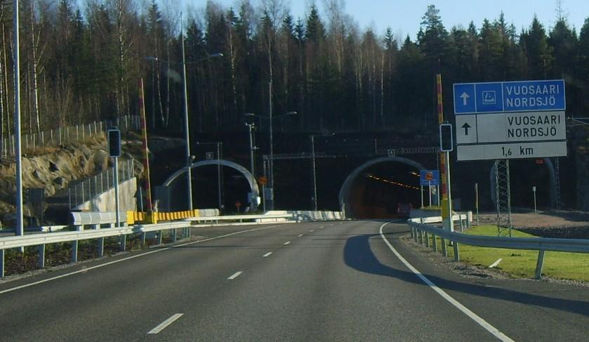 Тоннель в Порт Vuosaari Nordsjo